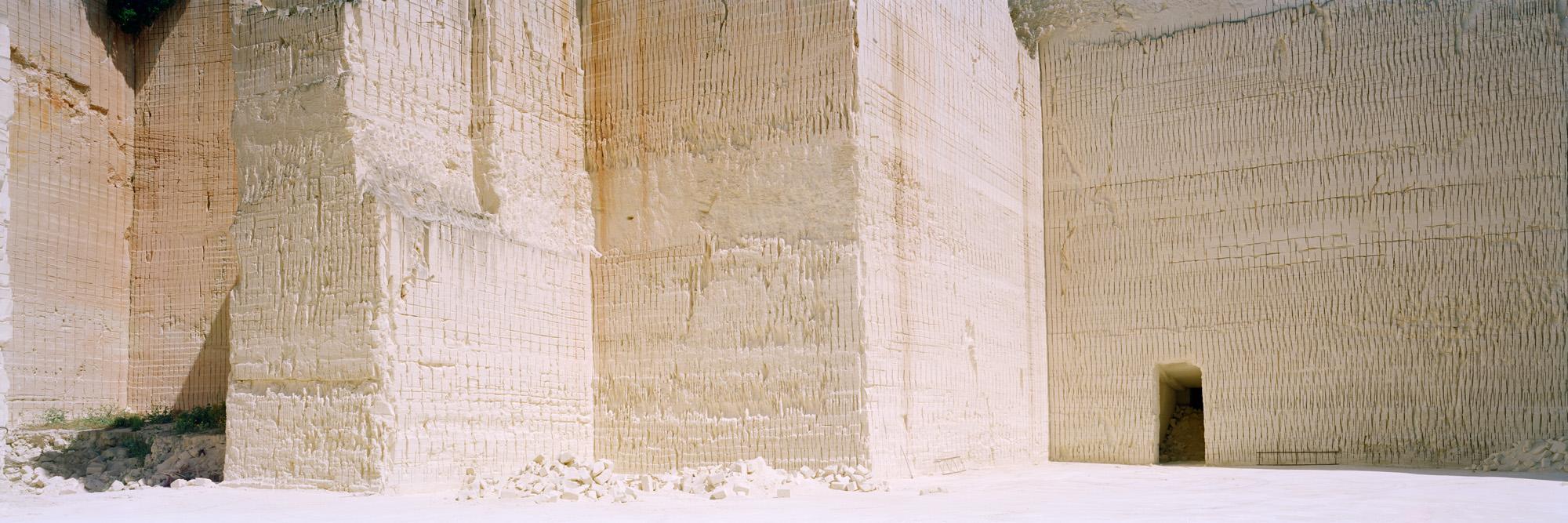 large format photography, Grossformatfotografie, Grossformatphotographie, Fotografie, Photographie, photography, 6x17, Tagebau, Sandstein, weiß, white, braun, brown, beige, Sand,