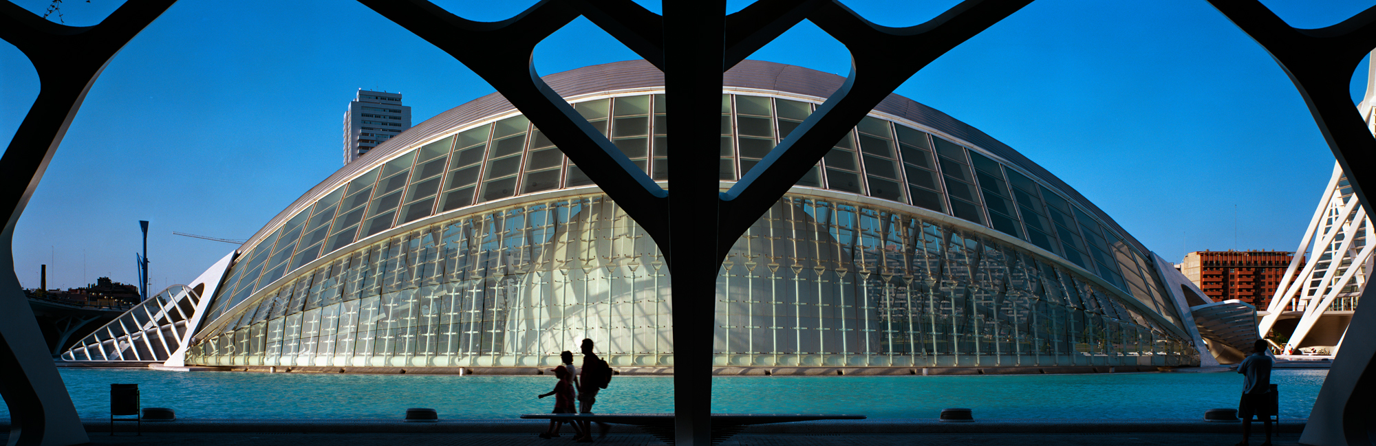 large format photography, Grossformatfotografie, Grossformatphotographie, Fotografie, Photographie, photography, 6x17, city, Stadt, Architektur, architecture, Beton, Stahl, concrete, steel, Calatrava, Expo,